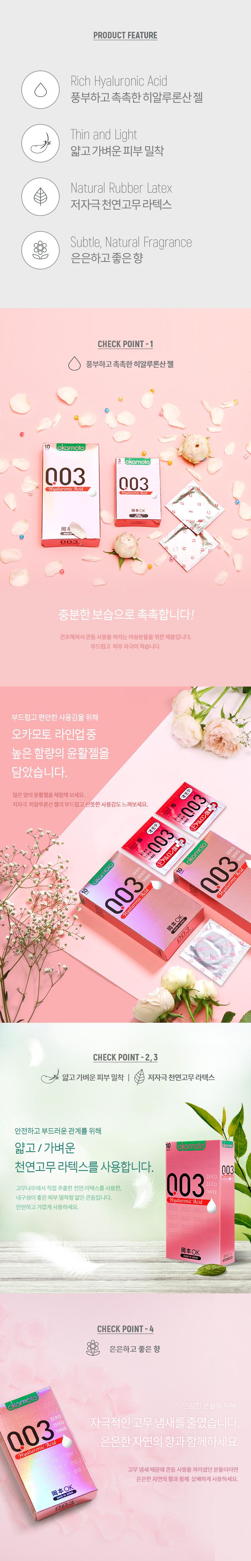 오카모토 003 히알루론산 콘돔 상품 정보