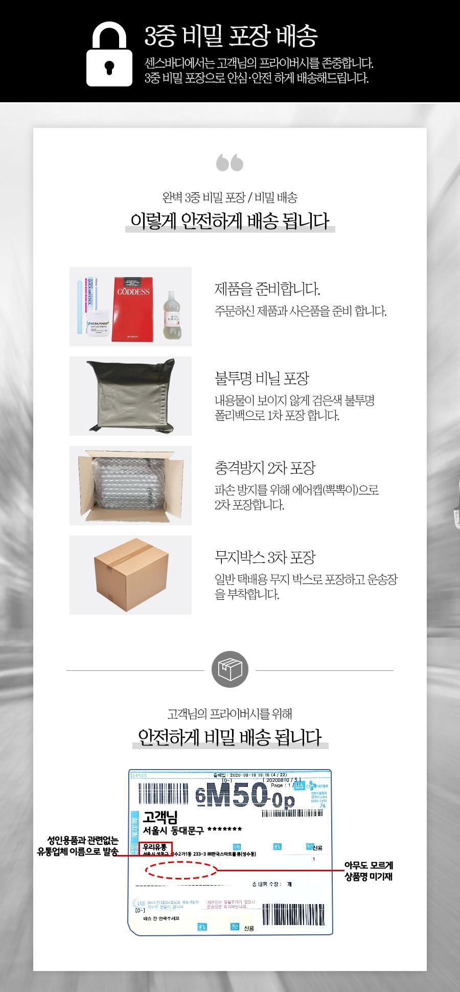 3중포장 비밀/안전배송